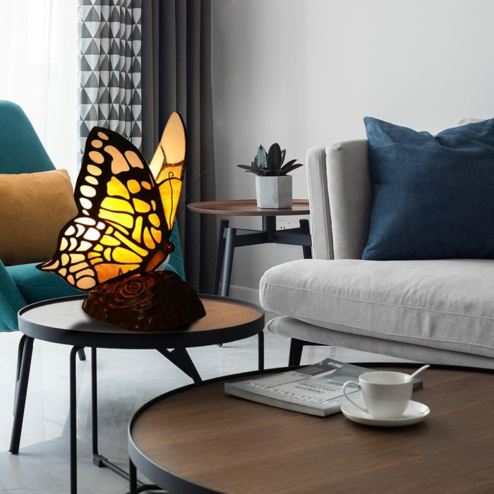 Stained Glass Butterfly Night Light
