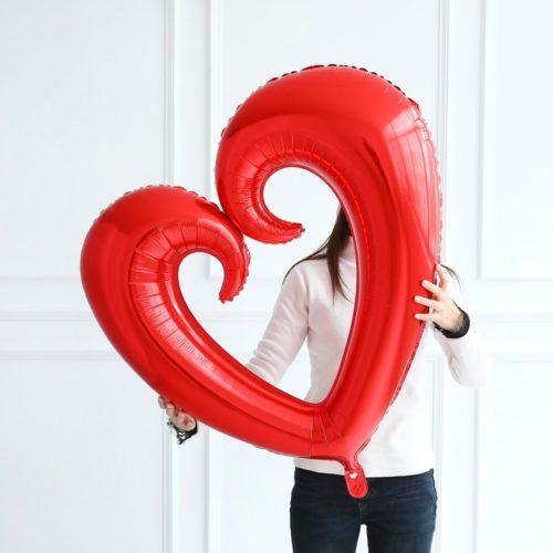 Foil Heart Balloon Decor For Parties