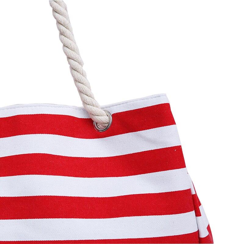 Special big Stripe shoulder handbags shopping bag beach handbag new fashion canvas bag wild rough twine striped beach bag