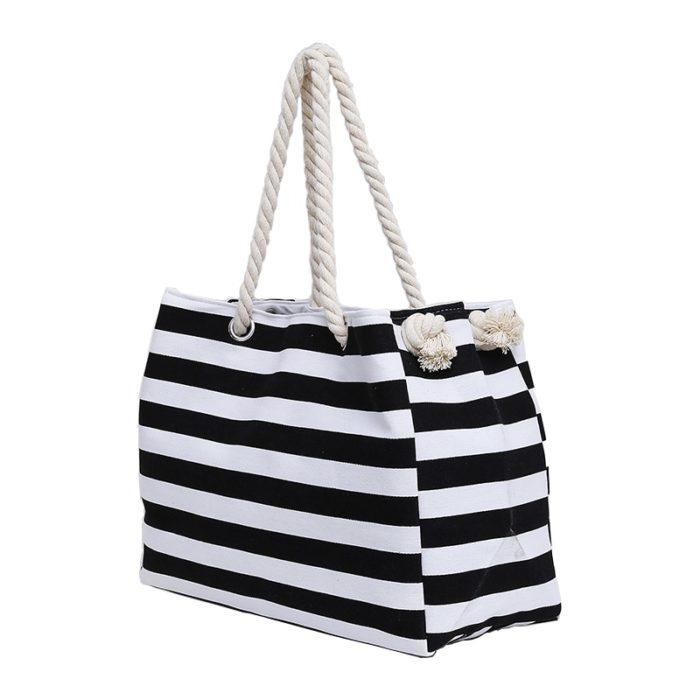 Canvas Beach Summer Tote Bag