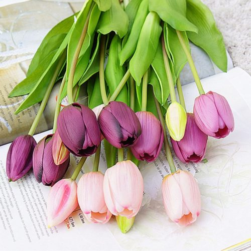 Artificial Tulip Flowers For Decoration
