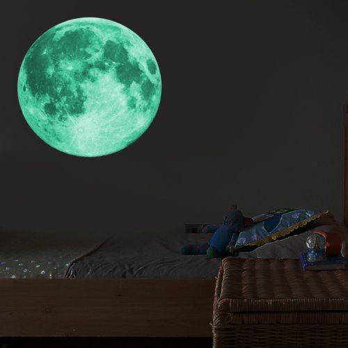 Glow in the Dark Moon Wall Sticker
