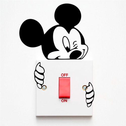 Disney Vinyl Wall Switch Sticker