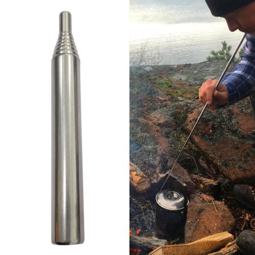 Collapsible Stainless Campfire Bellow