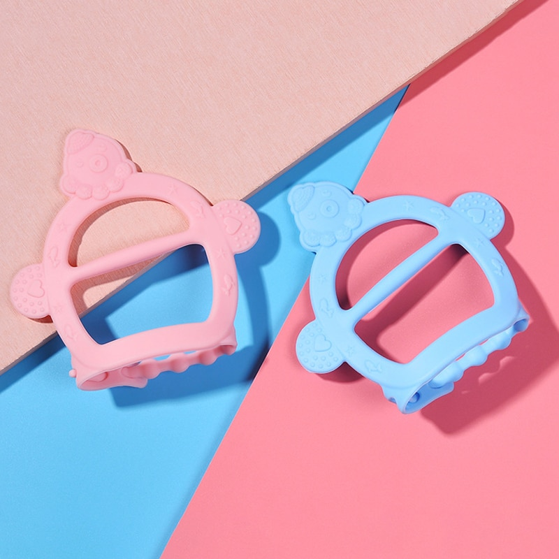 1Pcs Baby Silicone Bracelet Teether Toys 3Colors Bandage Design Baby Teething Products Durable Elastic Molar Toy Baby Supplies