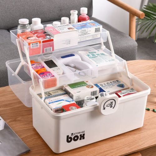 Medical Storage Box First Aid Kit Organizer