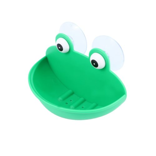 Green Frog Suction Cup Soap Dish
