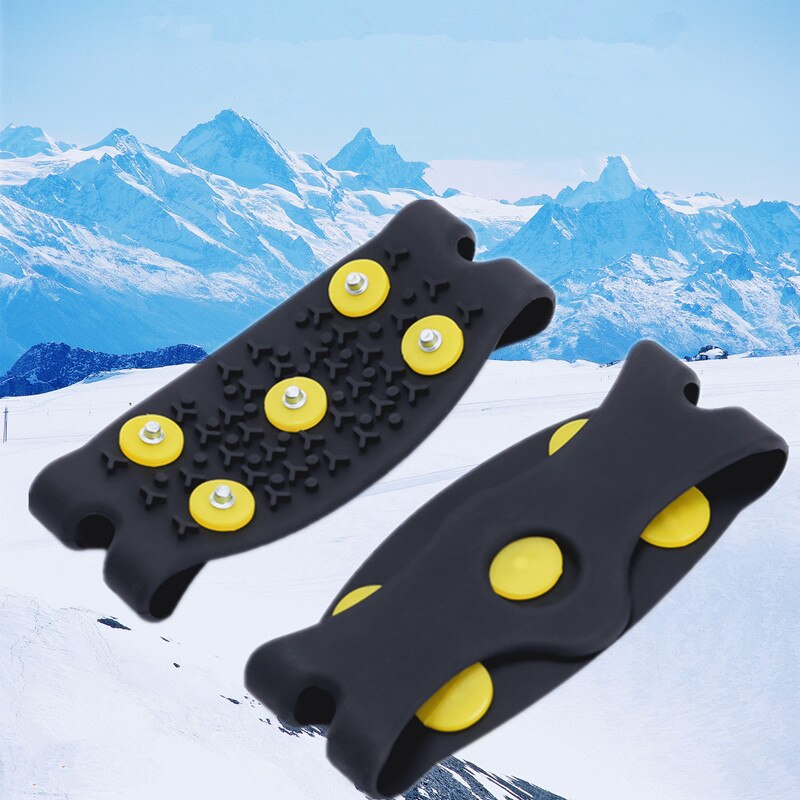 2020 Hot Stud Snow Ice Climbing Anti Slip Spikes Grips Crampon Cleats 5-Stud Shoes Cover