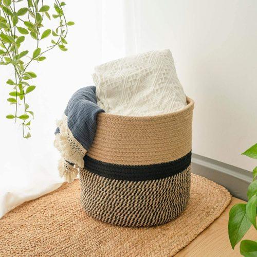 Cotton Woven Basket Home Decor