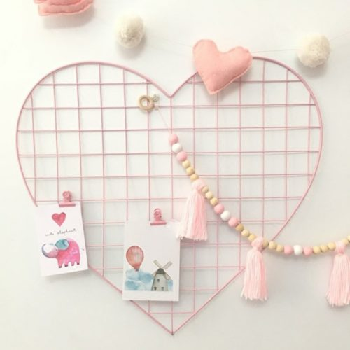 Metal Grid Panel With Heart Shape