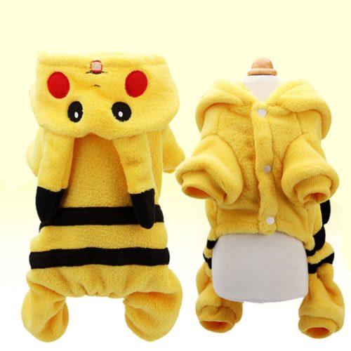 Pikachu Dog Costume Pet Onesie