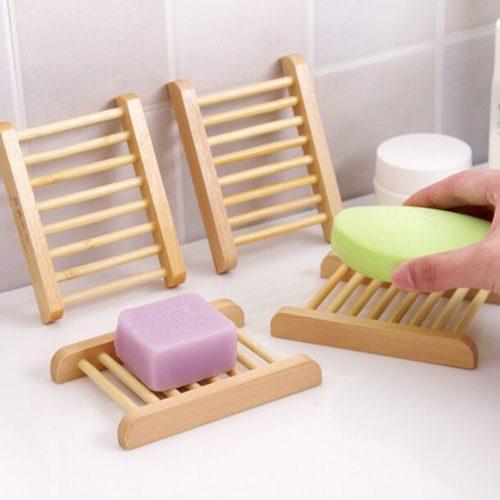 Wood Soap Tray Draining Dish