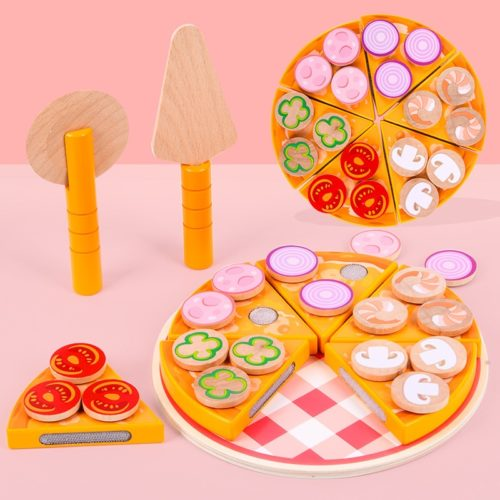 Wooden Pizza Toy for Kids