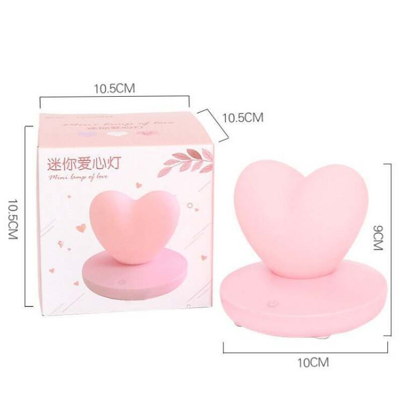 Heart Shaped LED Light Rechargeable Lamp