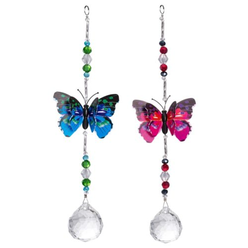 Hanging Crystal Butterfly Suncatcher