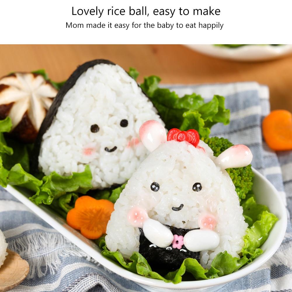 Japan Imported 3PCS/1 Set Sushi Mold Onigiri Rice Ball Bento Press Maker Mold DIY Tools Utility Kitchen Accessories Sushi Maker