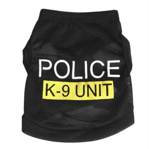 Dog Police Costume Cute Pet Vest
