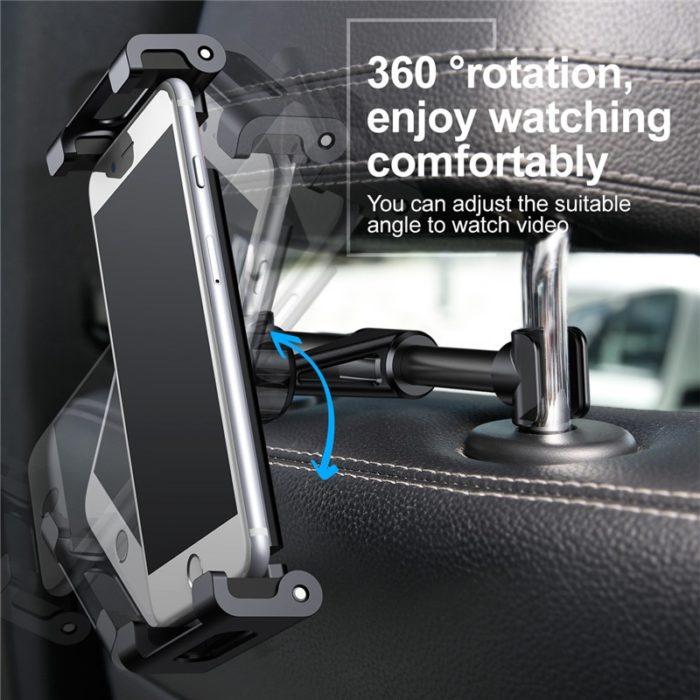 Universal Headrest Phone Holder Bracket