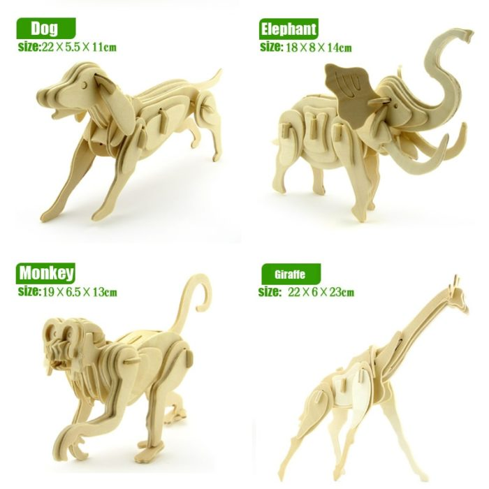 Wooden 3D Animal Puzzle