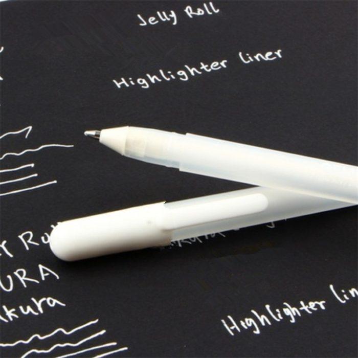 White Gel Pen School Supply