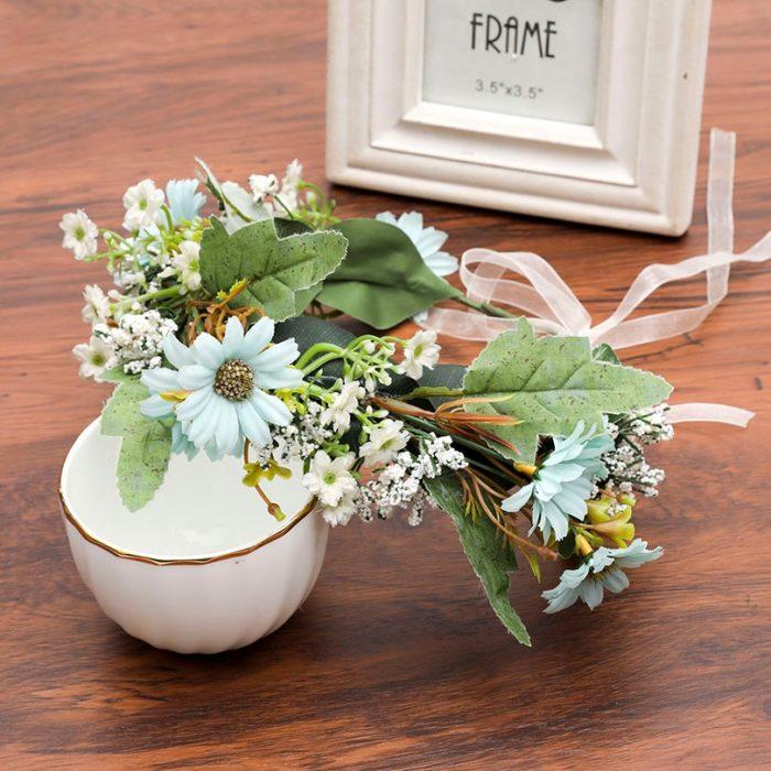 Floral Crown Artificial Flower Headpiece