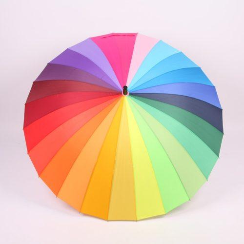Rainbow Parasol Windproof Umbrella