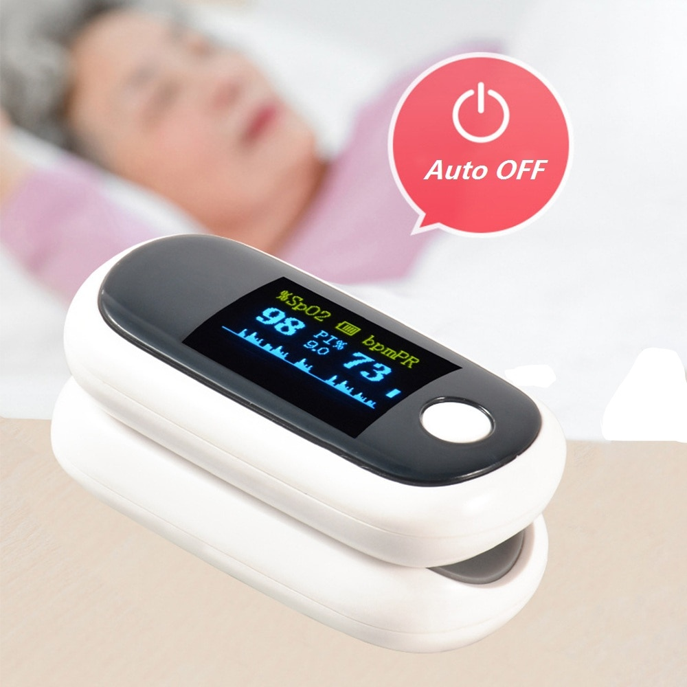 USB Charging OLED Display Finger Clip Pulse Oximeter PI Sleep Monitoring Finger Pulse Child Oximetro Home Heart Rate Meter