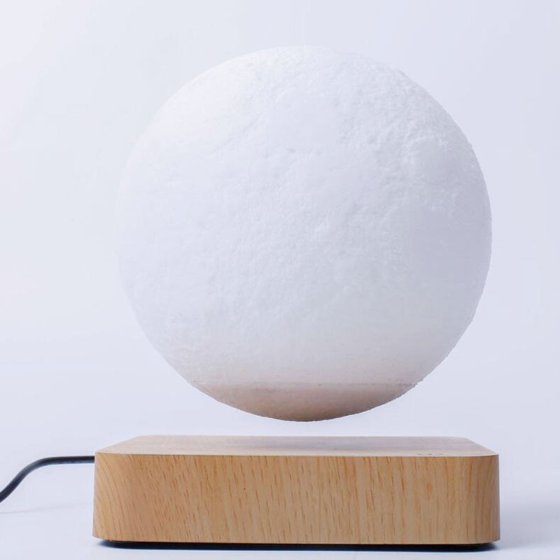 Creative 3D Magnetic Levitation Moon Lamp Night Light 14cm Rotating Led Moon Floating Lamp Home Decoration Holiday Gifts Touch