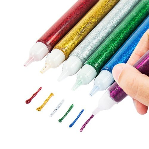 Glitter Glue Pens Art Supply (12 Pcs)