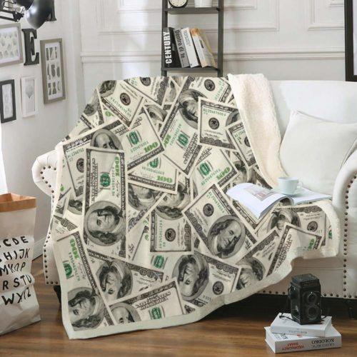 Sherpa Fleece Money Blanket