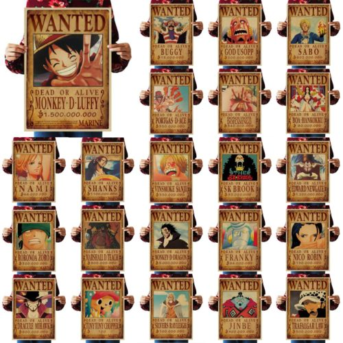 Paper One Piece Wanted Posters (23pcs)