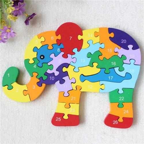 3D Jigsaw Wooden Elephant Puzzle