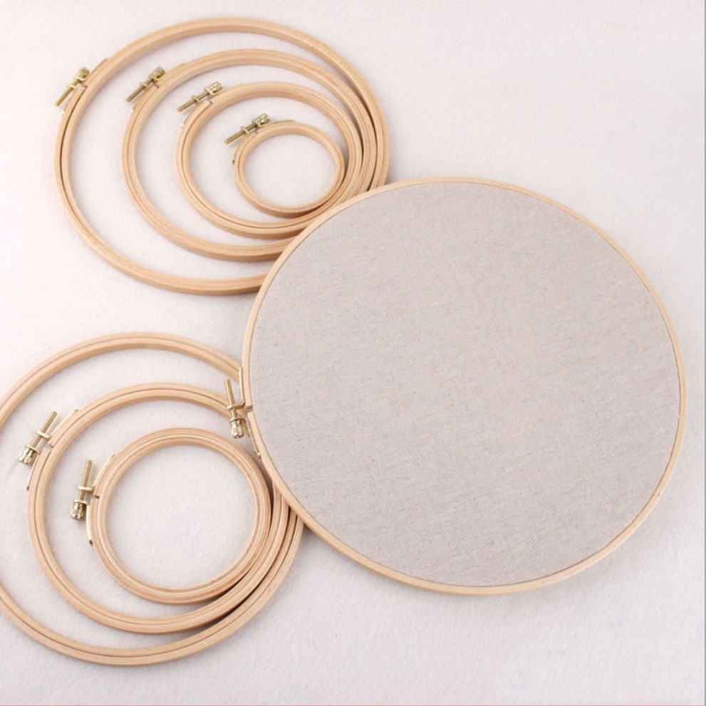 Circle Loop Hand Household Set Shed DIY Needle Sewing Tools Bamboo Machine Craft Frame Work Cross Stitch Hoops Wooden Embroidery