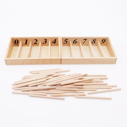 Wooden Montessori Spindle Box (45pcs)