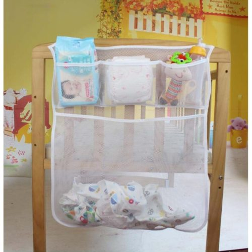 Mesh Fabric Diaper Holder for Crib