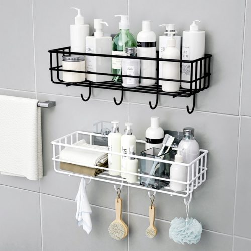 Suction Bathroom Shelf Iron Rack