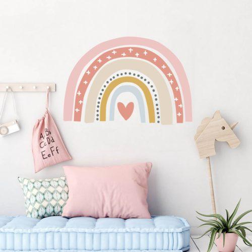 Boho Rainbow Sticker Girly Wall Decal
