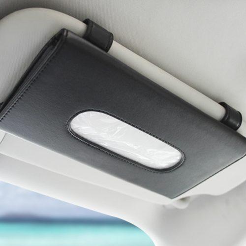 Slim Leather Visor Tissue Holder