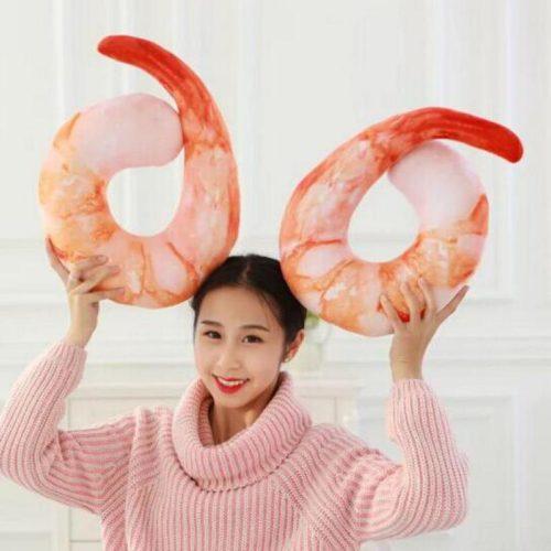 Creative Peeled Shrimp Neck Pillow