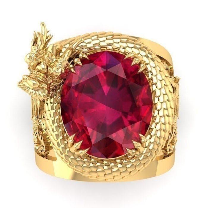 Men Dragon Ring Fashionable Jewelry