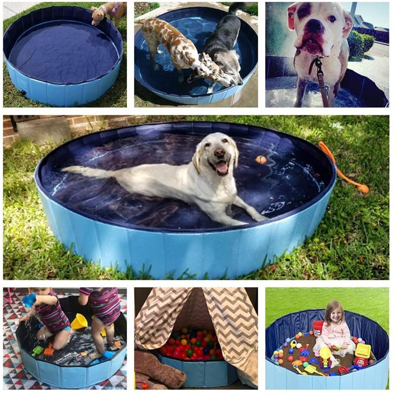 בריכת כלבים מתקפלת בריכת שחייה בריכת שחיה אמבטיית אמבטיית אמבט אמבטיה בריכת שחיה לחיות מחמד בריכת שחייה מתקפלת לכלבים חתולים ילדים