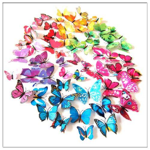 3D Butterfly Wall Decor Stickers (12 Pcs)