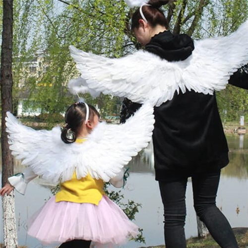 White Feather Angel Wings Costume
