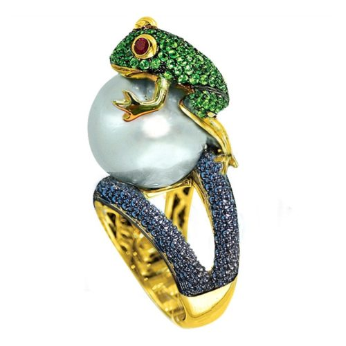 Frog Ring Ladies Fashionable Jewelry