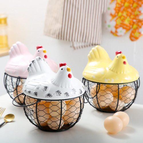 Creative Design Hen Egg Storage Basket
