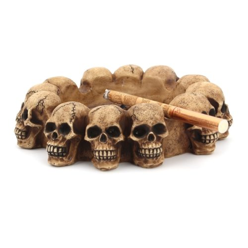 Skull Ashtray Gothic Home Decoration
