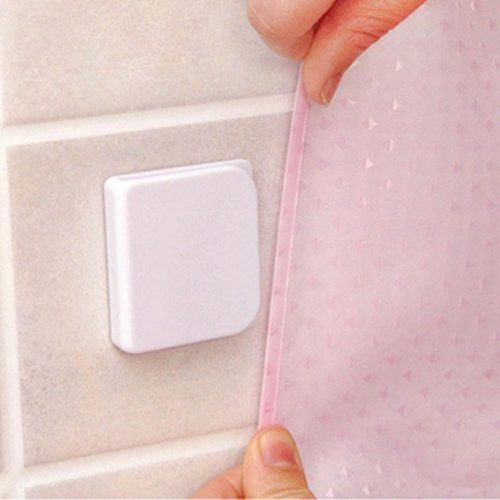 Adhesive Shower Curtain Clips (2pcs)