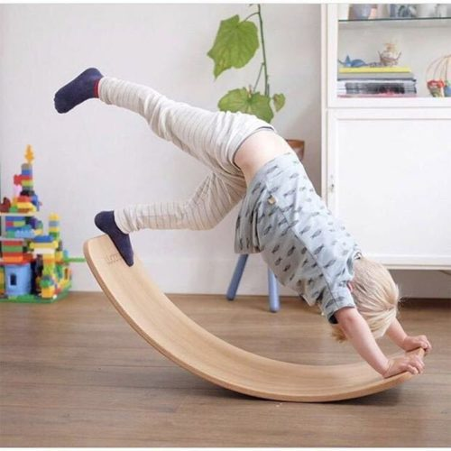 Curve Wooden Kids Wobble Board