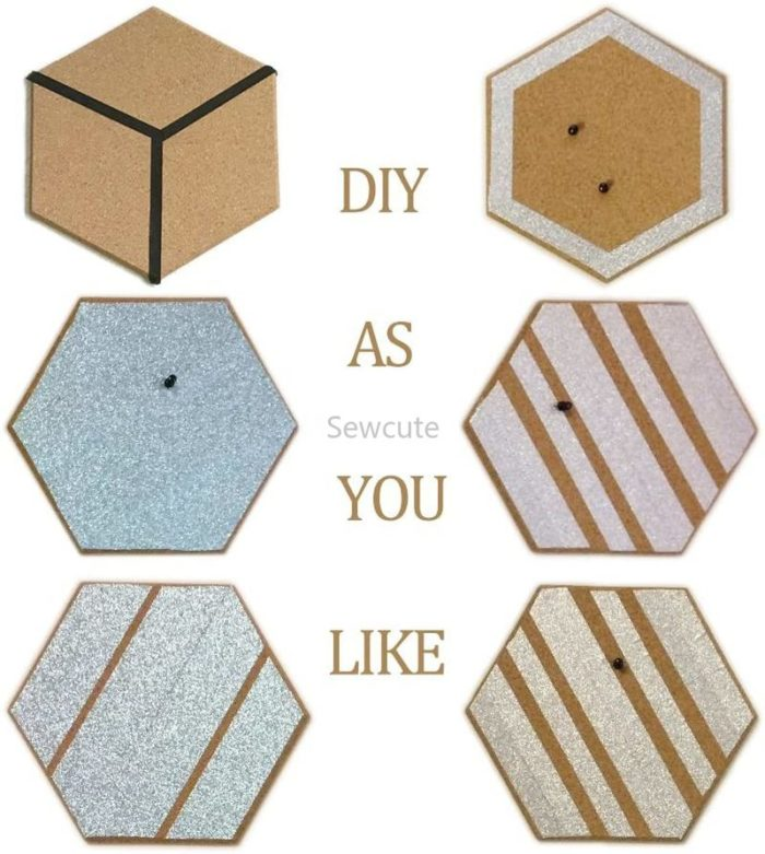 Hexagon Cork Board with Adhesive Back