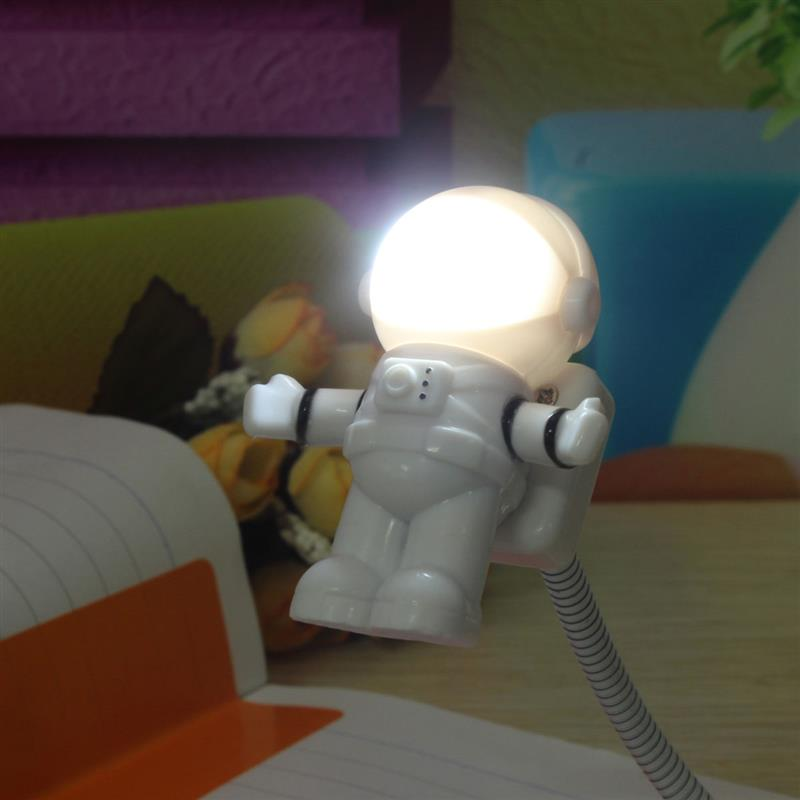 Mini LED Night Light White DC 5V Flexible Portable table lamp Spaceman Astronaut USB Tube lamp For Laptop PC Notebook Reading